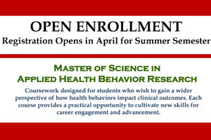 Master of Science in Applied Health Behavior Research – Open Enrollment