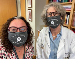Drs. Spencer (left) and Fraser